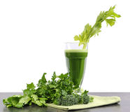 Healthy diet health foods with nutritious freshly juiced green vegetable juice Royalty Free Stock Photography
