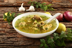 Healthy diet- homemade chicken soup . Royalty Free Stock Photo