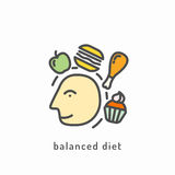 Healthy diet icon Stock Photography