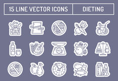 Healthy diet icons Royalty Free Stock Image
