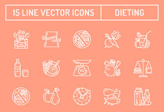 Healthy diet icons Royalty Free Stock Photography