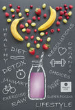 Healthy diet lifestyle concept Stock Images