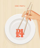 Healthy diet menu cover template. Concept Royalty Free Stock Photography