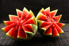Healthy diet Organic  water melon. Royalty Free Stock Image
