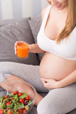 Healthy diet for pregnant woman Royalty Free Stock Photo