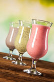 Healthy diet, protein shakes and fruits Royalty Free Stock Photo