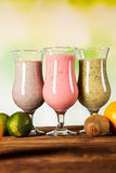 Healthy diet, protein shakes and fruits Stock Image