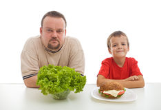 Healthy diet - teaching by example Stock Photography