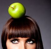 Healthy diet thinking Stock Photography