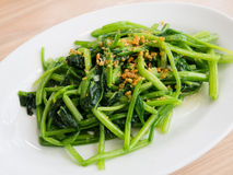 Healthy diet vegetarian garlic spinach meal royalty free stock photography