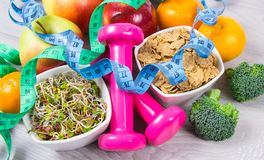 Healthy diet, weight loss - concept of healthy eating. Fruit and vegetables as part of a healthy diet - concept of healthy eating royalty free stock photos