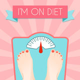 Healthy diet weight poster Royalty Free Stock Photos