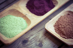 Healthy  dietary supplement powders Royalty Free Stock Images