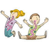 Healthy Digestion Kids Stock Images