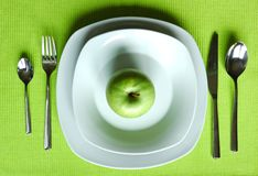 Healthy dining setting stock photo