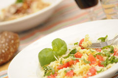 Healthy dinner stock images