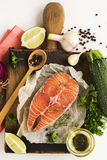 Healthy dinner ingredients Stock Photography