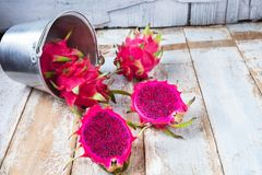 Healthy dragon fruits royalty free stock images