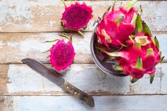Healthy dragon fruits stock image
