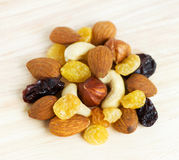 Healthy dried fruits Stock Images