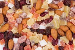 Healthy dried fruits Stock Photography