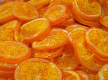 Healthy dried oranges at market. Spain Royalty Free Stock Image