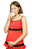 Healthy drink for expectant mother Royalty Free Stock Image