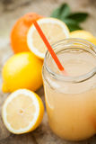 Healthy drink made of  lemon, cinnamon, ginger and honey Royalty Free Stock Image