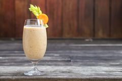 Healthy drink, mixed fruits and vegetable smoothie Stock Photography