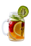 Healthy drink with slices of fresh fruit Royalty Free Stock Image