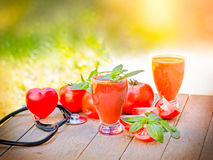 Healthy drink - tomato juice Royalty Free Stock Image