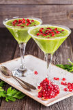 Healthy drink, vegetable smoothie Stock Photos