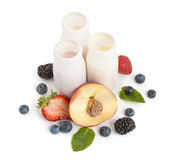 Healthy drinking yogurts Stock Image