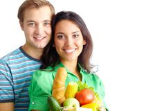 Healthy eaters Stock Image