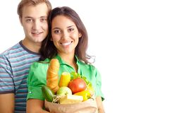 Healthy eaters Stock Images