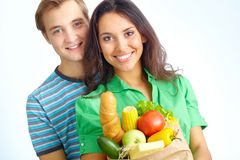 Healthy eaters Royalty Free Stock Images