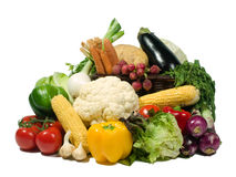 Healthy eating. Vegetables selection. Isolated on pure white. Food series Stock Image