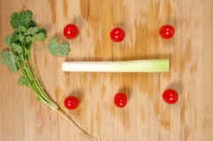 Healthy Eating / Assortment of Organic Vegetables Royalty Free Stock Photos