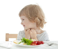 Healthy eating for a baby Stock Photography