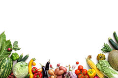 Healthy eating background. Food photography different fruits and vegetables