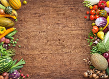 Healthy eating background. Studio photo of different fruits and vegetables stock images