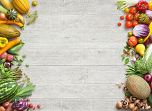 Healthy eating background. Studio photo of different fruits and vegetables royalty free stock photography