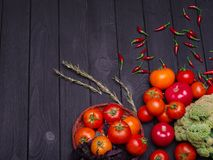 Photo of fresh appetizing vegetables. Proper nutrition. Vegetarianism. royalty free stock image