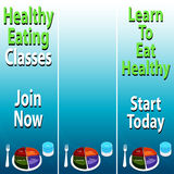 Healthy Eating Banners Royalty Free Stock Photos