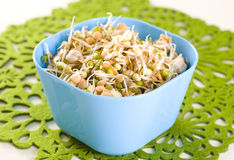 Healthy eating beans. Mung beans on white background Stock Photo