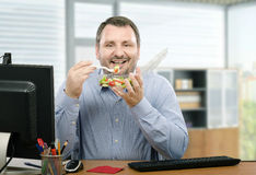 Healthy eating for businessman royalty free stock image