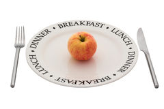 Healthy eating. With clipping path. Royalty Free Stock Images
