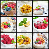 Healthy eating collage Royalty Free Stock Images