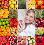 Healthy eating collection Royalty Free Stock Photography