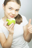 Healthy Eating Concept: Caucasian Teenage Girl Royalty Free Stock Photography
